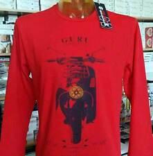 T-shirt uomo Guru manica lunga a girocollo con stampa vespa e logo art G992028