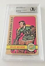 Gilles Meloche Signed 1972 Topps Rookie card Becket Certified