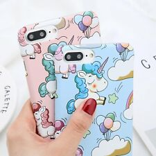 Unicorn Pattern Hard Shockproof Case Slim Thin PC Cover for iPhone 6 7 8 Plus X