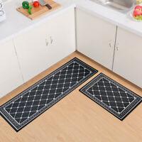 Flannel Floor Mat Kitchen Bedroom Bath Non Slip Doormat Carpet Rug Utility Mats