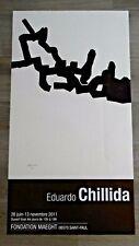 CHILLIDA Eduardo affiche originale 2011 Abstrait Catalunya Vasco Espagne