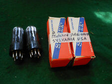SUPER MATCHED Pair Sylvania Silvertone 6V6GT Black Plate TESTED Exc.