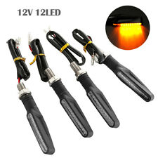 4Pcs Universal Motorcycle 12 LED Turn Signal Light Indicator Blinker Lamp Amber