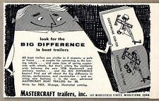 1958 Print Ad Mastercraft Boat Trailers Made in Middletown,CT