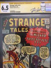 Strange Tales #110 CGC 6.5 1963 1st Doctor Strange! Stan Lee Signature! H9 H cm