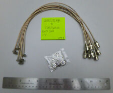 """(8) SMB(Female) Right Angle to F(Male) Push on RG179 Cables 17.5"""" {fo}"""