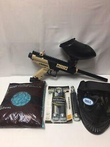 Maddog Tippmann Cronus Basic  CO2 Paintball Gun Starter Package Black Tan