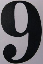Aufkleber Zahl, Ziffer, schwarz, ca. 8 cm Höhe, selbstklebend, Nr. 9