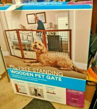 """New Open Box You & Me Freestanding Wooden Pet Gate 22"""" to 60"""" W x 28"""" H"""