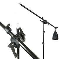 75-135cm Photography Studio Light Stand Telescopic Holder Boom Arm + Sandbag Kit