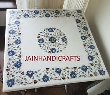 square Marble Dining coffee 2'x2' side center Table Top inlay Pietra Dura Art
