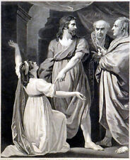 CHRIST HEALING THE WOMAN ON THE SABBATH DAY 1795 William Bromley  ETCHING