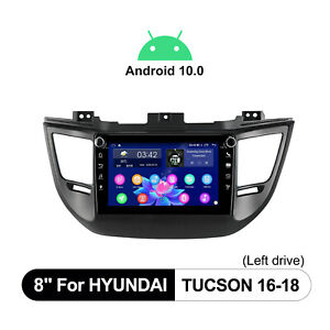 """8"""" Android 10 Navigation System For 2016-2018 Hyundai Tucson Built-In 4G Module"""