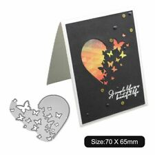 Heart Butterfly Metal Cutting Dies Stencils Scrapbooking Embossing Card Crafts
