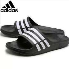 ADIDAS Men`s Originals Duramo Slide Sandal Slipper Flip Flop Black/White