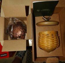 Longaberger Collector's Club Acorn Basket w Metal Oak Leaf Stand 2008 New In Box