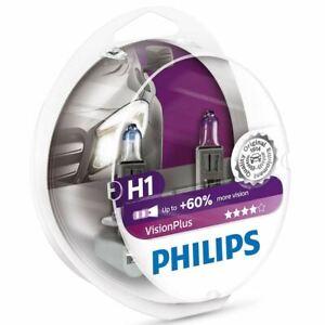 Philips Vision Plus H1 Car Headlight Bulb 12258VPS2 (Twin)