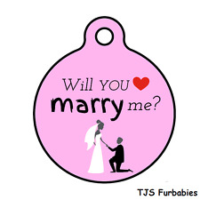 Will You Marry Me-Valentines Day Engaement Personalized Pet ID Tag Dogs Cats