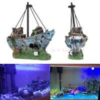 Aquarium Ornament Wreck Boat Sunk Ship Shipwreck Fish Tank Cave Decor Destroyer