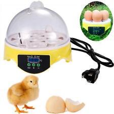 Automatic Clear Digital Chicken Duck Bird 7 Eggs Incubator Hatcher Househould WT