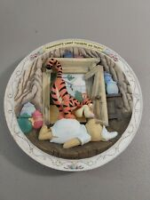 Disney Bradford Exchange Winnie the Pooh Bouncing's What Tiggers Do Best Plate