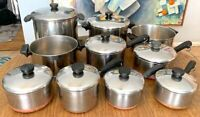 Lot Of 18 Vintage Revere Ware Copper Clad Bottom Cookware Clinton IL