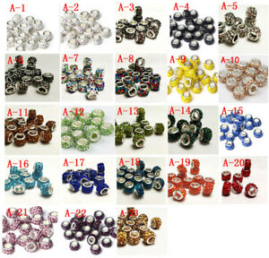 50pcs DIY Czech Clay crystal Shambala Charm Beads Fit European Bracelet beaded