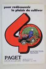 prospectus brochure microtracteur micro tracteur gamme shibaura traktor tractor