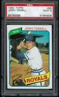 1980 Topps Jerry Terrell Kansas City Royals #98 PSA 9 MINT SET BREAK