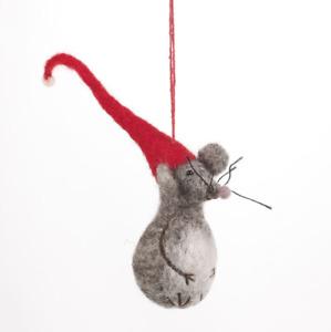 'Little Fella' Mouse Felt So Good Handmade Fair Trade Felt Hanging Decoration