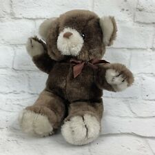 "Vtg 1980s 12"" Teddy Bear Plush Brown Stuffed Animal Made in Korea by West World"