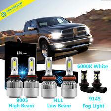 6x LED Headlight Fog Light Bulbs For 2009-2012 Dodge Ram 1500 2500 w/projector