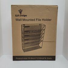 Ilife Designs Mesh Wall Mounted File Holder Organizer Literature Rack