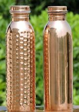 Designer Copper Water Bottle For Ayurveda Health Benefits Spill Proof Joint Free