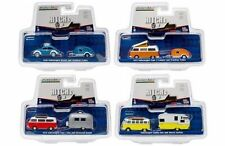 HITCH & TOW V-DUB ASSORTMENT SET OF 4 1:64 DIECAST MODEL CARS GREENLIGHT 51035