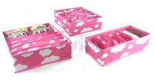 Periea 3 Pack.Storage Solution Box Wardrobe Organiser Drawer Organizer Socks