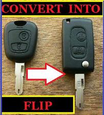 PEUGEOT 107 207 307 407 306 406 remote flip key fob case réparation Flip conversion