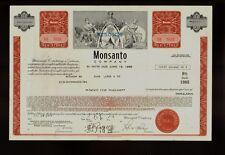 MONSANTO COMPANY  Creve Coeur Missouri USD 25,000  old bond certificate dd 1970s