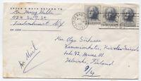 1965 Lindenhurst NY to Finland airmail cover 3x cent Washington #1213 [3491.20]