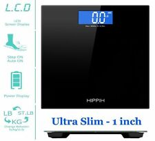 400lb LCD Digital Bathroom Body Weight Scale Tempered Glass Batteries Etekcity