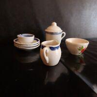 N2774 7 Cerámica Porcelana Miniaturas Hecho a Mano Arte Nuevo Deco PN Francia