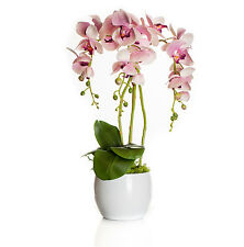 Gesteck Orchidee weiß pink Fensterschmuck Arrangement Kunstblumen Übertopf H50cm
