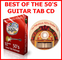 1950s 50s GUITAR TAB CD TABLATURE SONG BOOK GREATEST HITS ROCK N ROLL MUSIC