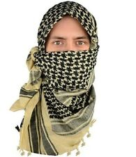 Shemagh Military Army Desert Tactical Heavyweight Scarves Tan Black