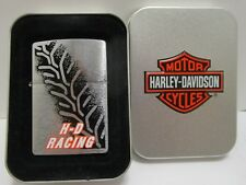 1990's ZIPPO HARLEY DAVIDSON H-D RACING LIGHTER ***NEW IN TIN CASE***