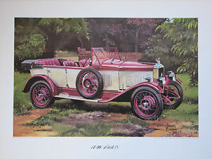 MG 14/40 Mark IV. Vintage Car Print. MG Print.