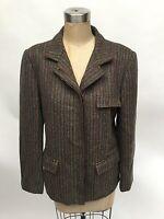 Womens Vintage Gucci Blazer Jacket Tweed Equestrian Size 44