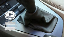 FITS VOLVO S60 V70 2001-2007 GEAR GAITER SHIFT BOOT BLACK GENUINE LEATHER