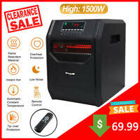 Mingyall 1500W 6-Element Space Heater Infrared Electric Heater w/Remote Control