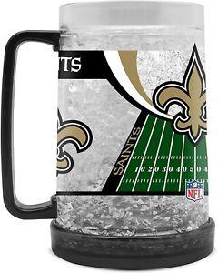 New Orleans Saints 16 oz NFL Crystal Freezer Mug - New